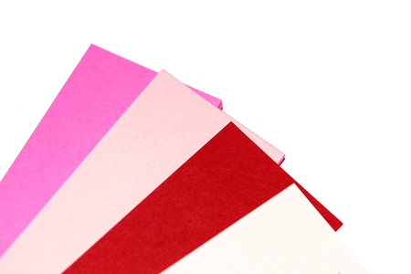 selector: Pink and red personal cards papers selector palette Stock Photo