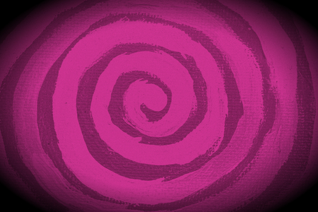 counterclockwise: Artistic purplish pink paint spiral abstract background