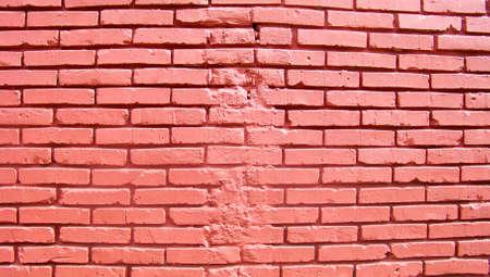 fixed line: Fondo de la pared de ladrillo rojo con l�nea discontinua fijo