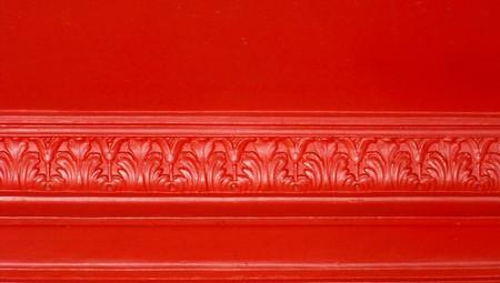 architectonic: Rode elegante architectonische vormen grens close-up abstract