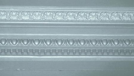architectonic: Zilver elegante architectonische grens abstract