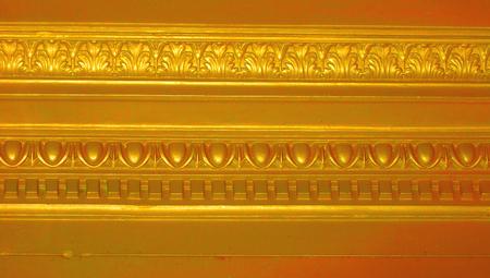 architectonic: Golden elegant architectonic border abstract