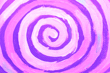 counterclockwise: Purple naif paint spiral closeup abstract background