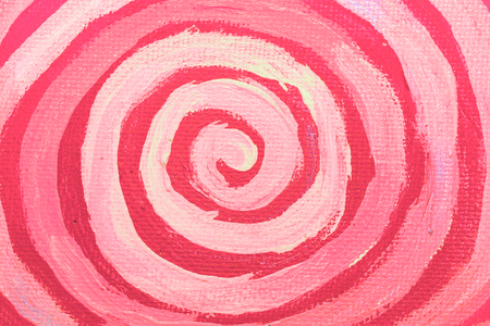 naif: Pink painting spiral abstract background Stock Photo