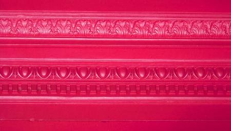 architectonic: Vintage molding lijnen abstracte achtergrond van architectonische detail in schitterende kleur magenta Stockfoto