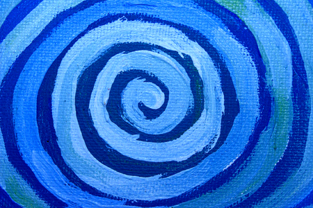naif: Abstract background of blue spiral of paint