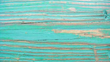 Grungy turquoise wood lines texture background clsoeup