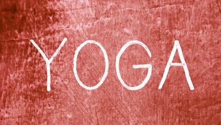 redish: Yoga sport word on grunge background