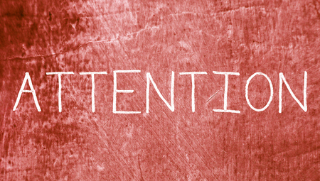 redish: Attention concept word on grunge background