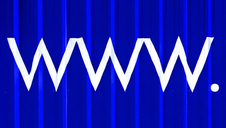 domains: Wide world web www. blue abstract domains business background Stock Photo