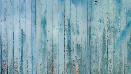 Vintage blue wood wall background of stripes Stock Photo