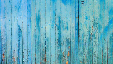 Cyan blue vintage wood wall abstract background