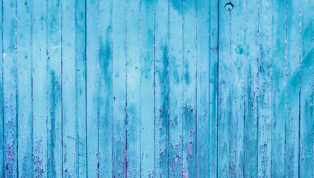 Blue wood striped wall abstract background
