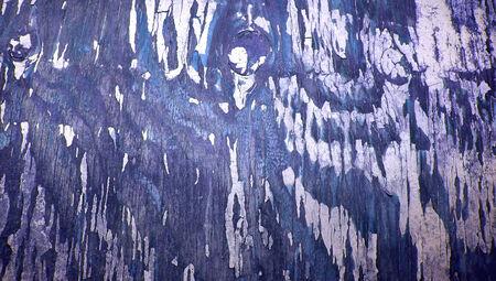knothole: Blue crackeled wood paint abstract background Stock Photo