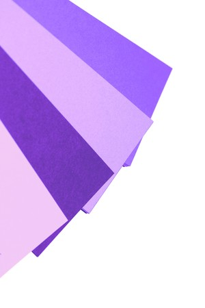 diagonals: Violet color tones palette isolated on white