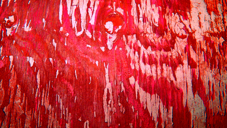 oldish: Red old grunge wood paint abstract background close up texture
