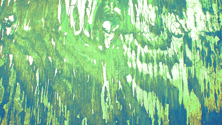 Green grunge cracked wood paint abstract background