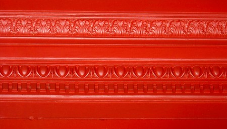 metallized: Red elegant vintage wall close up abstract background Stock Photo