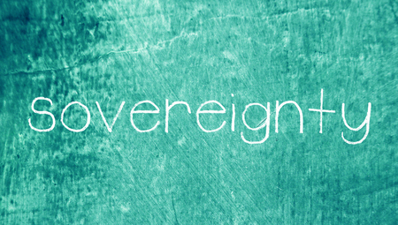 sovereignty: Sovereignty word on blue grungy background