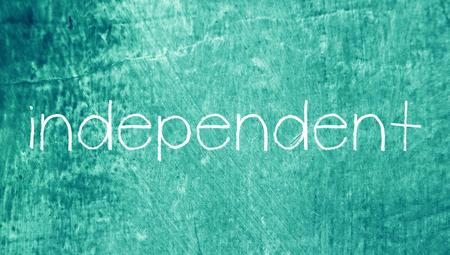 independent: Independent word on blue grunge backdrop