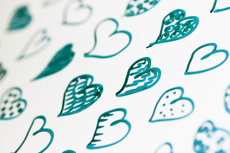 macrophotography: Hearts draw background close up