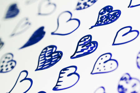 corazones azules: Corazones azules dibujo patr�n de fondo del primer