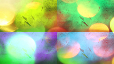 Colourful lights abstract banners background photo