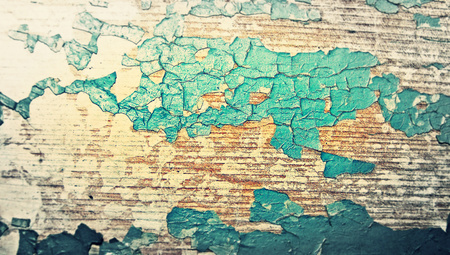 Cracked blue wood paint old background texture photo