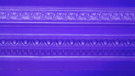 sober: Blue vintage elegant wall lines ornament Stock Photo