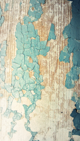 oldish: Old wood painted crackeled texture closeup abstract background