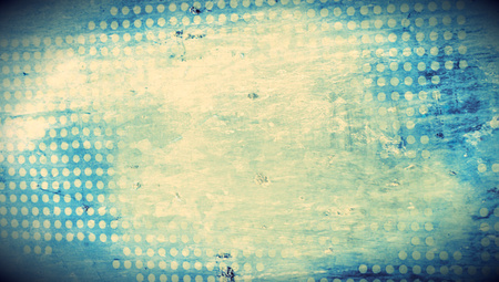 grungy dots: Grungy old blue background of dots