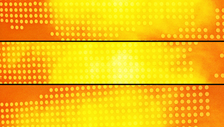 closeups: Banners dotted background in yellow and orange warm colors