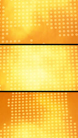 closeups: Abstract backgrounds dots set of warm orange and yellow color Stock Photo