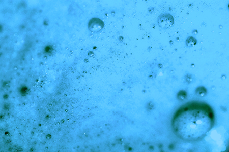 condensing: Blue foam texture close up abstract background