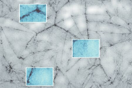 closeups: Gray batik crackeled abstract background with colored closeups