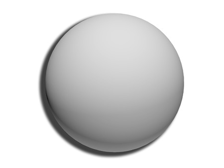 nutty: Gray 3d sphere top view isolated on white background like circular button
