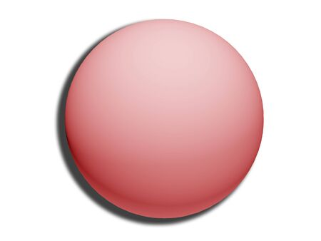 comfits: Pink 3d sphere top view isolated on white background like circular button Stock Photo