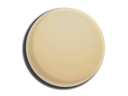 tempting: White chocolate ball circle isolated on background