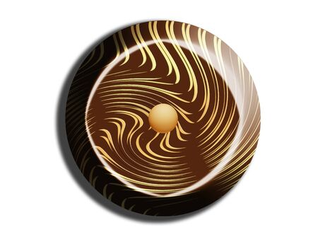 bonbon: Bonbon circle isolated on white Stock Photo