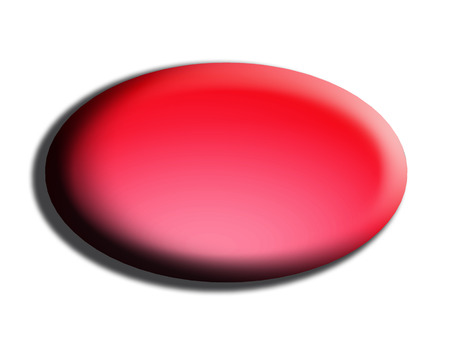 oval shape: Red web button of oval shape isolated on white Stock Photo