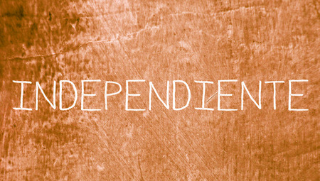 independent: Independent on vintage background Stock Photo