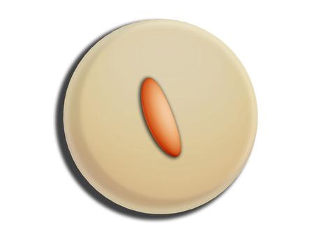 white chocolate: White chocolate circular bombom illustration isolated on white Stock Photo