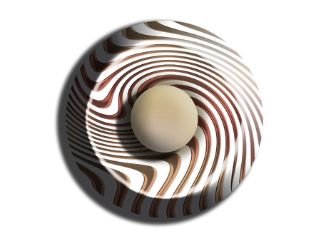 comfits: Striped chocolate circle isolated on white background