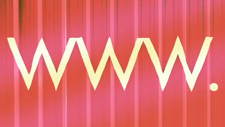 typographies: Internet domains abstract signs background Stock Photo