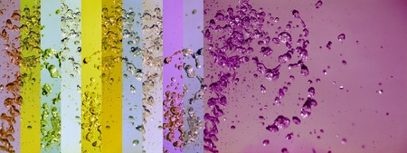 Aurasoma abstract liquid water bubbles colors banners background photo