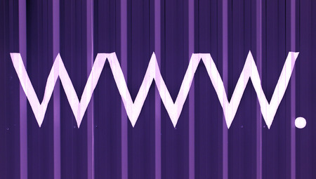 typographies: Internet abstract blue background with www and lines