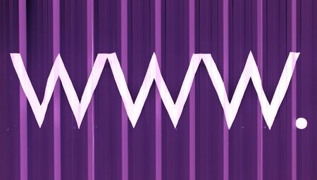 typographies: Abstract purple background with www. Stock Photo