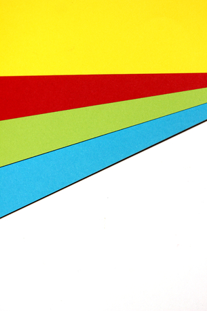 diagonals: Multicolor papers design palette abstract background close up