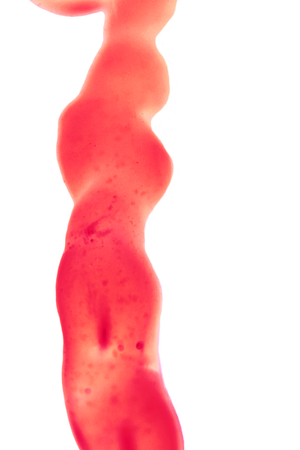 umbilical cord: Red cord like umbilical isolated abstract minimal background