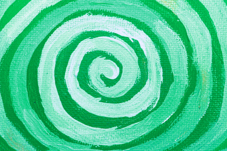Spiral of green paint close up artistic abstract background Stock Photo